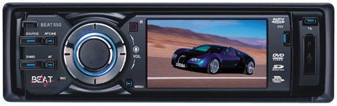 Beat Audio 550 Single Din Receiver With CD/MP3/DVD & Bluetooth
