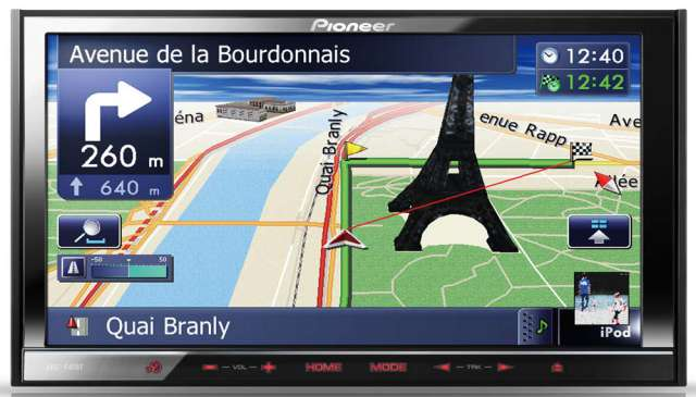 Pioneer AVIC-F40BT Double Din Navigation Unit with NavGate